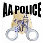 aa-police Square Car Magnet 3