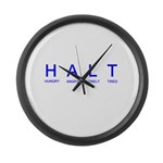 HALT Large Wall Clock