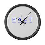 HALT Large Wall Clock