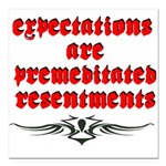 expectations Square Car Magnet 3