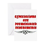 expectations Greeting Cards
