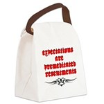 expectations Canvas Lunch Bag