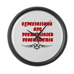 expectations Large Wall Clock
