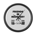 FRIENDS-RECOVERY Large Wall Clock