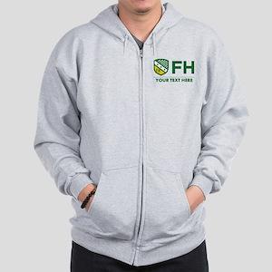 Farmhouse Personalized Zip Hoodie
