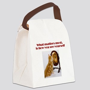 cat-lion Canvas Lunch Bag