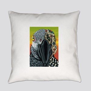Day of the Dead Parrot Sugar Skull Everyday Pillow