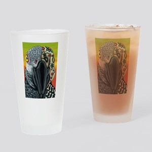 Day of the Dead Parrot Sugar Skull Drinking Glass