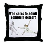 complete-defeat Throw Pillow