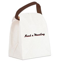 need-a-meeting Canvas Lunch Bag
