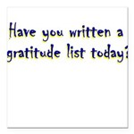 gratitude-list Square Car Magnet 3