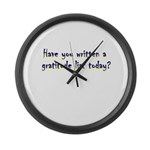 gratitude-list Large Wall Clock