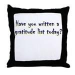 gratitude-list Throw Pillow