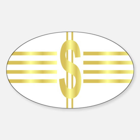 John Galt Dollar Emblem Oval Decal