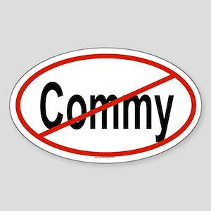COMMY Oval Sticker