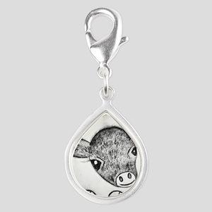 Silver Teardrop Charm