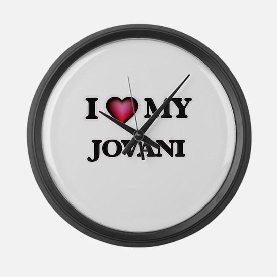 I love Jovani Large Wall Clock