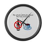 attitude-life-changed Large Wall Clock