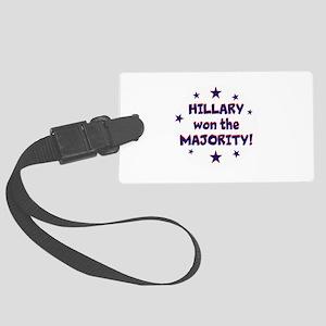 Hillary won the majority, Luggage Tag