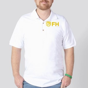 Farmhouse Fraternity Yellow Crest FH Golf Shirt