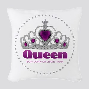 Bow Down or Leave Town Woven Throw Pillow