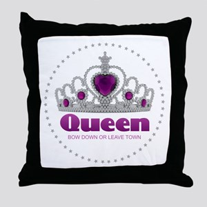 Bow Down or Leave Town Throw Pillow