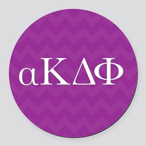 Alpha Kappa Delta Phi Letters Round Car Magnet