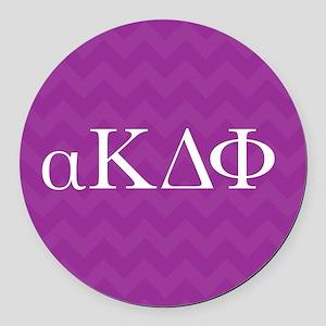 Alpha Kappa Delta Phi Letters Round Car Magnet
