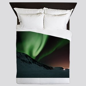 Northern Lights Green Queen Duvet