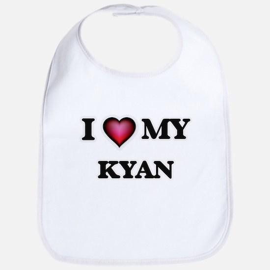 I love Kyan Baby Bib