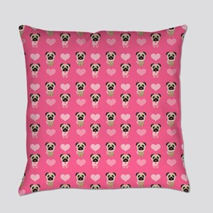 Valentine's Day Pugs Everyday Pillow