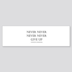 Never Give Up Bumper Sticker
