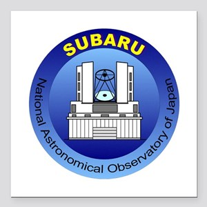 "Subaru Telescope Logo Square Car Magnet 3"" x 3"""