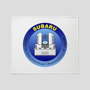 Subaru Telescope Logo Throw Blanket