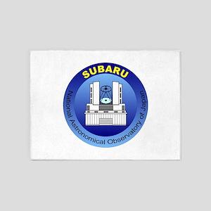 Subaru Telescope Logo 5'x7'Area Rug