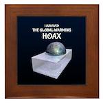 I Survived The Global Warming Hoax Framed Tile