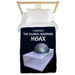 I Survived The Global Warming Hoax Twin Duvet