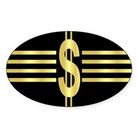 John Galt Dollar Emblem Oval Sticker