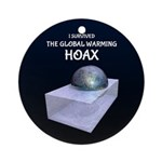 I Survived The Global Warming Hoax Round Ornament