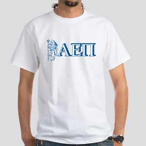 Alpha Epsilon Pi Letters White T-Shirt