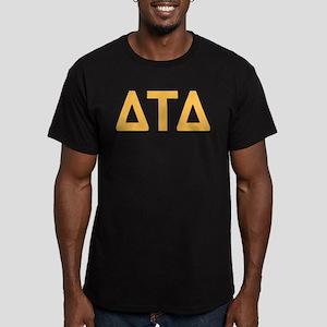 Delta Tau Delta Letter Men's Fitted T-Shirt (dark)
