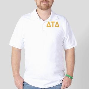 Delta Tau Delta Letters Golf Shirt