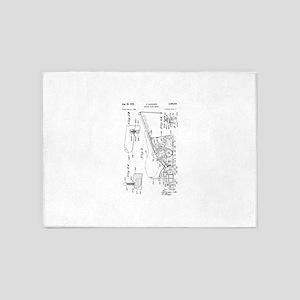 1949 O. Hadwiger Bowling Alley Sander 5'x7'Area Ru