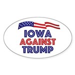 Iowa Against Trump Oval Sticker