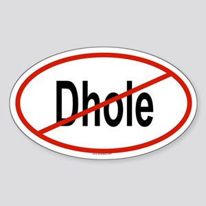 DHOLE Oval Sticker