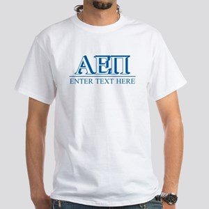 Alpha Epsilon Pi Personalized White T-Shirt