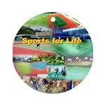 Sports for Life Round Ornament