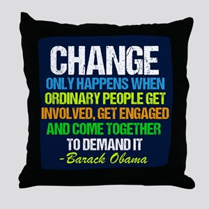 Obama Farewell Throw Pillow