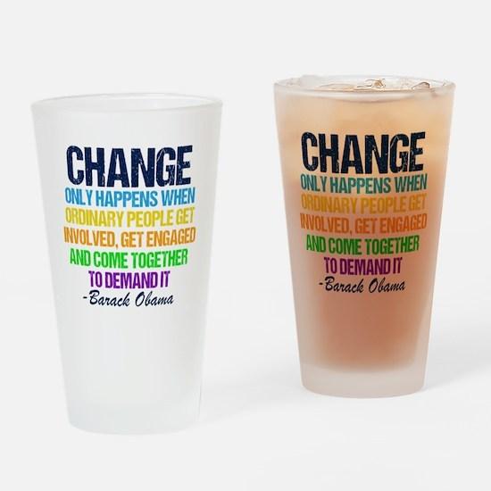 Obama Farewell Drinking Glass