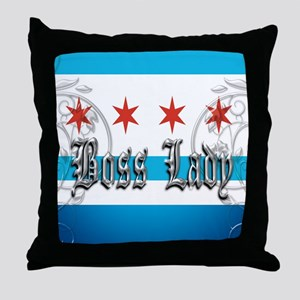 Chicago Boss Lady Woven Throw Pillow